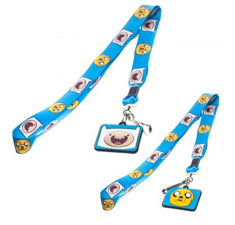Adventure Time Finn and Jake Blue Lanyard