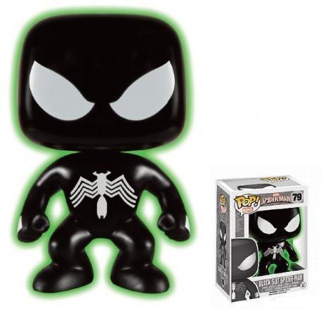 Spider-Man Black Suit Marvel Funko Pop Vinyl Glow in the Dark Exclusive | Gear4Geeks