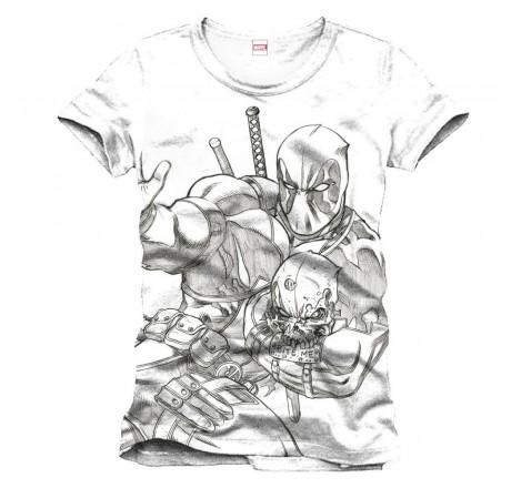 Deadpool Line Art Sketch T-Shirt | Gear4Geeks