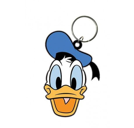 Disney Rubber Keychain Donald Duck