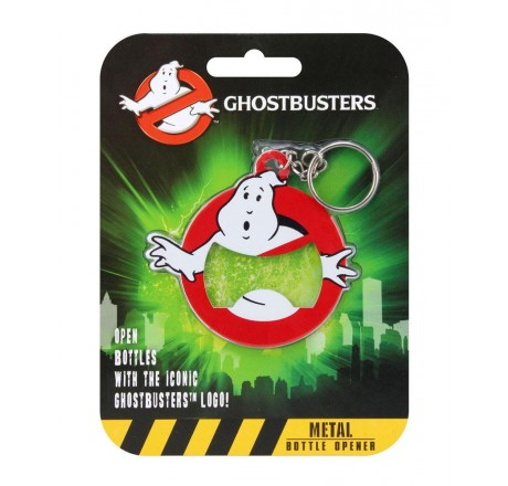 Ghostbusters Logo Keychain with Bottle Opener