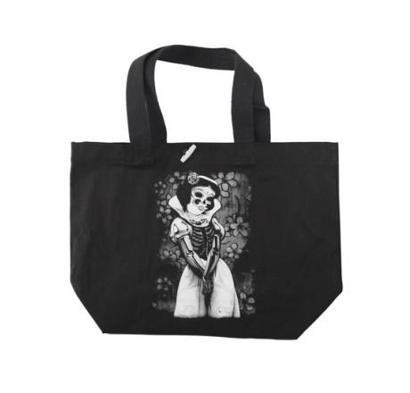 Darkside Clothing Snow White Skeleton Tote Bag | Gear4Geeks