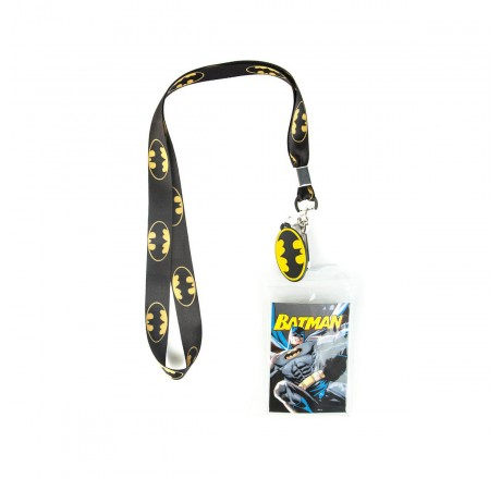 DC Comics Batman Lanyard With Charm Classic Logo