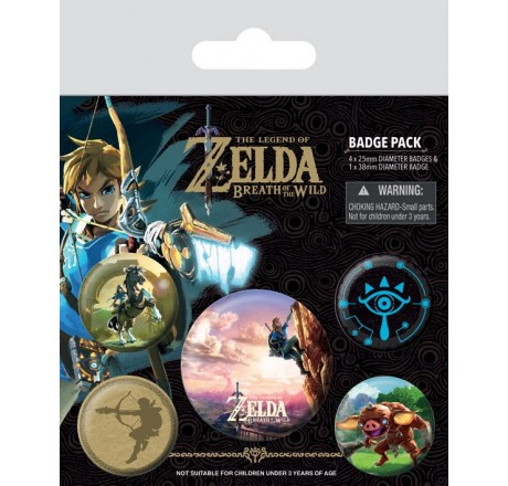 The Legend of Zelda Breath of the Wild Pin Badges 5-Pack The Climb | Gear4Geeks