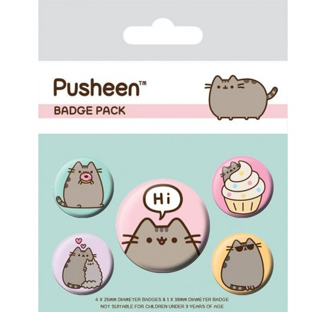 Pusheen Badge Pack - Pusheen Says Hi | Gear4Geeks