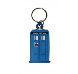 Doctor Who Rubber Acrylic Tardis Keyring