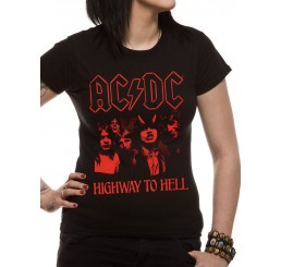 AC/DC Highway To Hell Fitted Tshirt