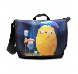 Adventure Time Finn & Jake Totoro Messenger Bag