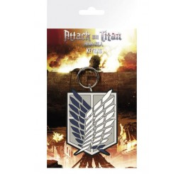 Attack on Titan Survey Corps Emblem Rubber Keychain