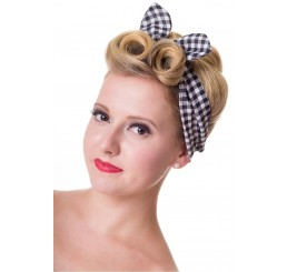 Black and White Gingham Hairband