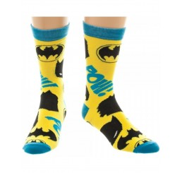 Batman yellow and blue socks