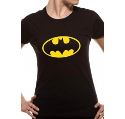Batman/Batgirl Logo Ladies Fitted T-Shirt