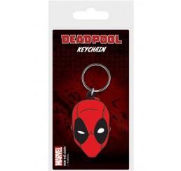 Marvel Comics Deadpool Face Rubber Keychain