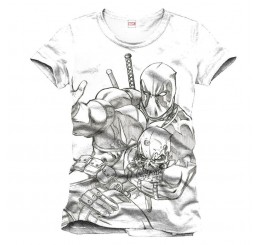 Deadpool Line Art Sketch T-Shirt