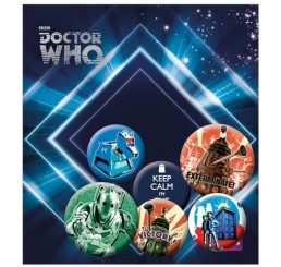 Doctor Who Pin Badges 6-Pack