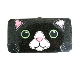Freaks And Friends Cat Diner Glitter Face Wallet