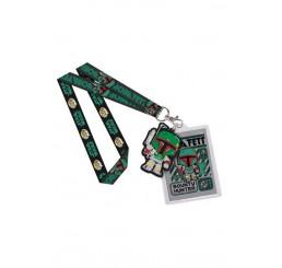 Star Wars Funko Pop! Lanyard with Rubber Keychain Boba Fett & Backer Card