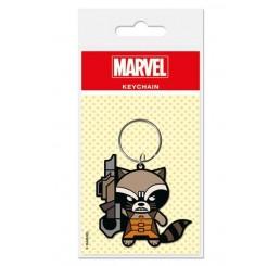 Guardians of the Galaxy Rocket Raccoon Kawaii Rubber Keychain Marvel