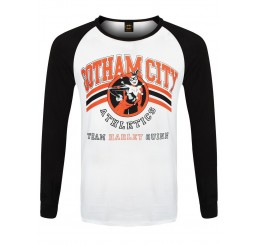 Harley Quinn Batman Gotham City Athletics Team Raglan Top