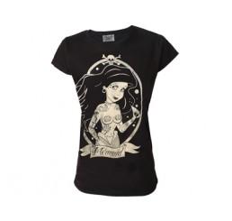 Darkside Clothing Mermaid Ladies Black T-Shirt