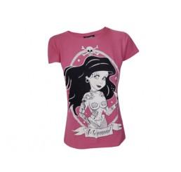 Darkside Clothing Mermaid Ladies Pink T-Shirt