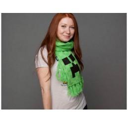 Minecraft Green Creeper Scarf