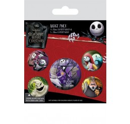 Nightmare Before Christmas Pin Badges 5 Pack