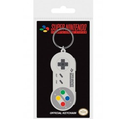 Super Nintendo SNES Controller Rubber Keychain