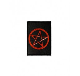 Darkside Clothing Red Pentagram Pentacle Patch