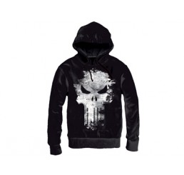 Marvel The Punisher Gunshot Skull Hooded Sweater