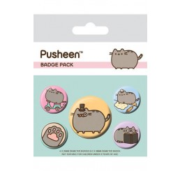 Pusheen badge Pack Top Hat and Monocle