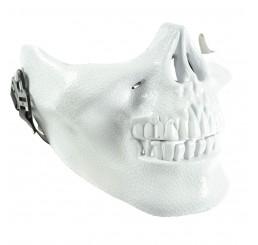 Poizen Industries Skull Half Face Mask - White
