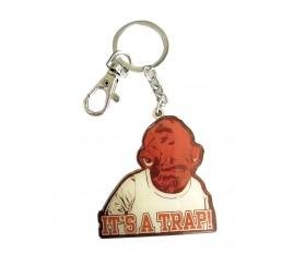 Star Wars Admiral Ackbar It's a Trap metal Keychain