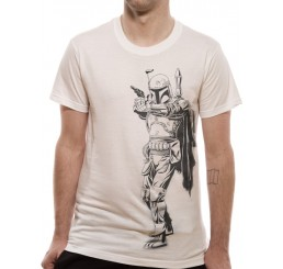 Star Wars Boba Fett Line Art T-Shirt