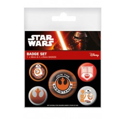 Star Wars Force Awakens First Order Badge Set