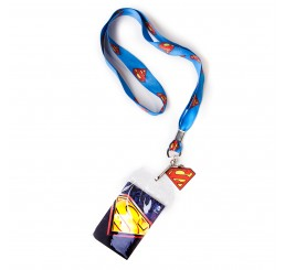 Superman Blue Lanyard with Classic Logo