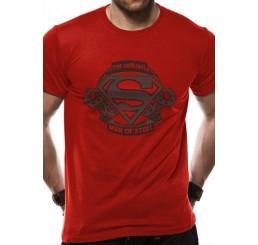 Superman - The Original Man Of Steel Logo Red T-Shirt