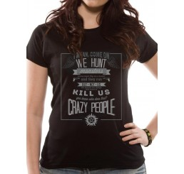 Supernatural Crazy People Ladies Fitted T-Shirt