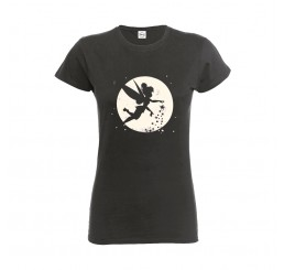 Disney Tinker Bell Moon Ladies Fitted T-Shirt