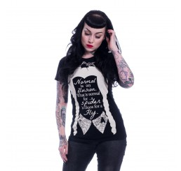 Heartless Clothing Wednesday Addams Spider Fly Ladies Fitted T-Shirt