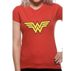 Wonder Woman Logo Fitted T-Shirt