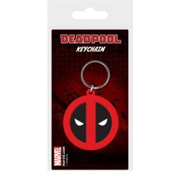 Marvel Comics Rubber Keychain Deadpool Symbol