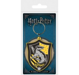 Harry Potter Rubber Keychain Hufflepuff