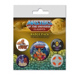 Masters of the Universe Pin Badges 5-Pack I Have The Power